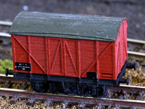 GWR - Mink A - Covered goods wagon Z 1:220 in Smooth Fine Detail Plastic