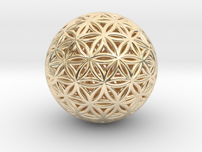 Shrink Wrapped Orb of life in 14k Gold Plated Brass