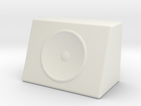 1/10 Scale Subwoofer M2 in White Natural Versatile Plastic: 1:10