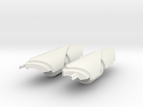 1/3rd scale Yangs Gauntlets in White Natural Versatile Plastic