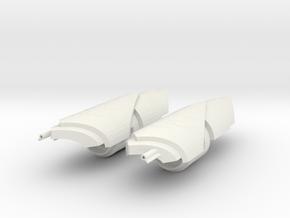 1/3rd scale Yangs Gauntlets in White Natural Versatile Plastic