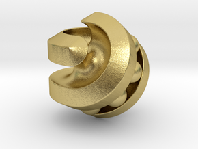 Hexasphericon Bearing in Natural Brass (Interlocking Parts)