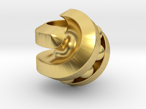 Hexasphericon Bearing in Polished Brass (Interlocking Parts)