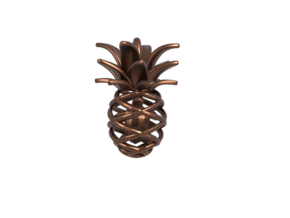 Pineapple Turtle Pendant in Polished Bronze