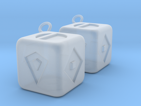 Lucky Sabacc Dice in Smoothest Fine Detail Plastic