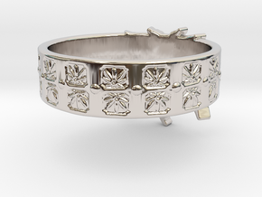 Married to Mary Ring in Rhodium Plated Brass: 8 / 56.75