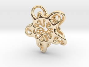 Star Abstract in 14K Yellow Gold: Small