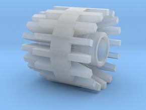 3.5mm jack Connector Holder for side blades FEMALE in Smooth Fine Detail Plastic