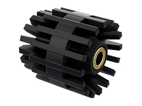 3.5mm jack Connector Holder for side blades FEMALE in Black Natural Versatile Plastic