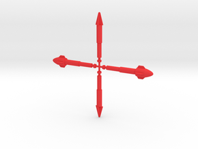 Microman Conning Station Missiles in Red Processed Versatile Plastic