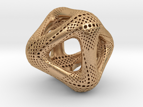 Perforated Octahedron in Natural Bronze