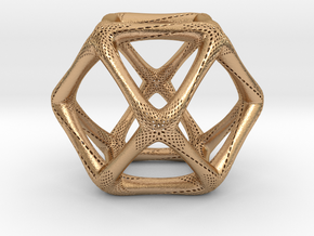 Perforated Cuboctahedron in Natural Bronze