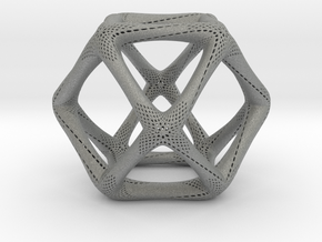 Perforated Cuboctahedron in Gray PA12