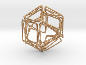 Looped Twisted Cuboctahedron in Natural Bronze