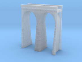 T-scale Stone Viaduct Section (2 Arches) - 60mm St in Smooth Fine Detail Plastic