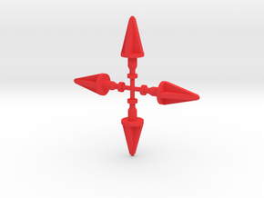 Andromeda Missiles in Red Processed Versatile Plastic
