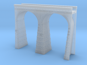T-scale Stone Viaduct Section (2 Arches) - 90mm St in Smooth Fine Detail Plastic