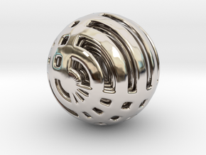Looped Arrayed Sphere in Rhodium Plated Brass