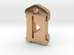 Nordic Rune Letter þ in Polished Bronze