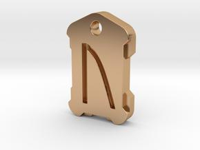 Nordic Rune Letter U in Polished Bronze