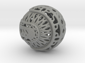 Tree of life sphere perforated in Gray PA12