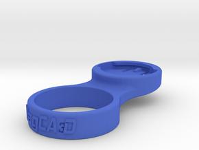 """Wahoo Stem Cap Mount 1-1/4"""" - 0deg in Blue Processed Versatile Plastic"""