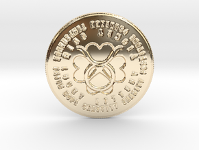Taurus Coin of 7 Virtues in 14k Gold Plated Brass
