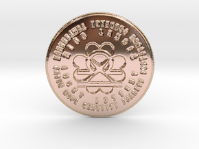 Libra Coin of 7 Virtues in 14k Rose Gold Plated Brass