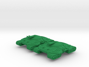 Terrapin Super Heavy Tracked Armor - 3mm in Green Processed Versatile Plastic