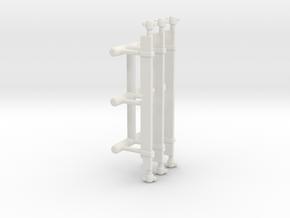 1/87 Intakes set of 3 in White Natural Versatile Plastic