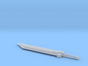 Buster Sword for Deluxe Class Transformers in Smooth Fine Detail Plastic