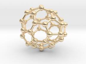0682 Fullerene c44-54 cs in 14k Gold Plated Brass
