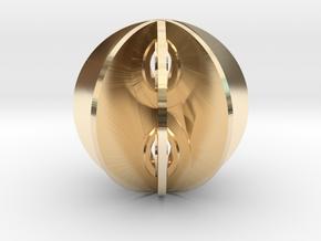 Yin yang sphere in 14k Gold Plated Brass