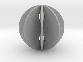 Yin yang sphere in Aluminum