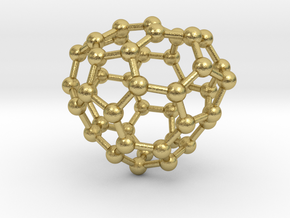 0684 Fullerene c44-56 c1 in Natural Brass