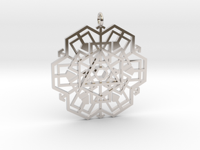 geo_shape in Rhodium Plated Brass