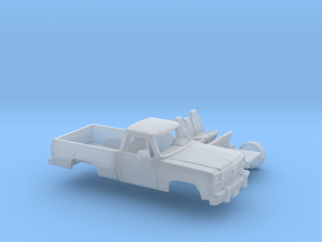 1/160 1991-93 Dodge Ram RegCab Short Bed Kit in Smooth Fine Detail Plastic