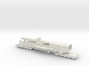 28 cm SKL / 40 (E) Railway artillery Bruno 1/285 in White Natural Versatile Plastic