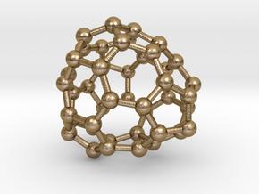 0687 Fullerene c44-59 c1 in Polished Gold Steel