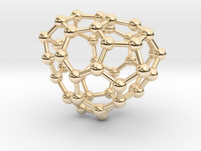 0690 Fullerene c44-62 c1 in 14k Gold Plated Brass