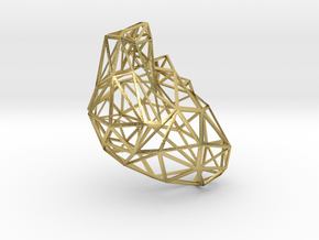 Lattice heart density 10 in Natural Brass
