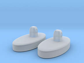 Nose pad for glasses in Smooth Fine Detail Plastic