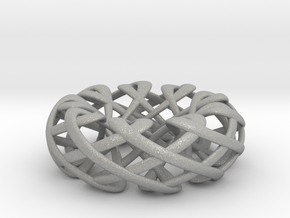 Counter rotating Torus with Celtic knots in Aluminum