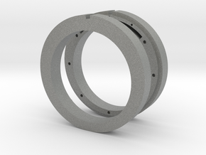 NFC ready cross ring in Gray Professional Plastic