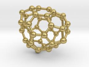 0691 Fullerene c44-63 c1 in Natural Brass
