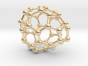 0692 Fullerene c44-64 c1 in 14k Gold Plated Brass
