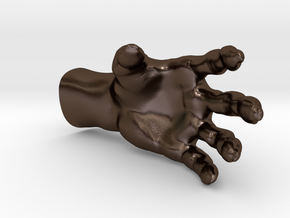 Zombiehand for your Flowerpot in Polished Bronze Steel