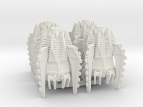 6mm Fellclaw Assault Pods (x4) in White Natural Versatile Plastic
