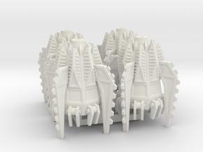 6mm Fellclaw Assault Pods (x4) in White Natural Versatile Plastic