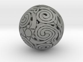 Triskelion sphere in Gray Professional Plastic